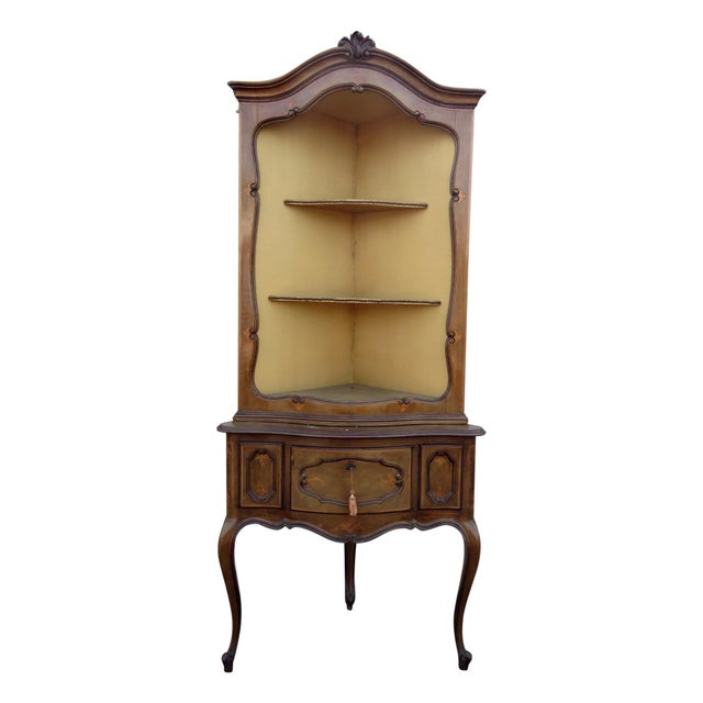 Antique Louis XVI Style Corner Etagere For Sale - Image 11 of 11