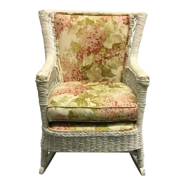 Vintage Wicker Rocking Chair - Image 1 of 10