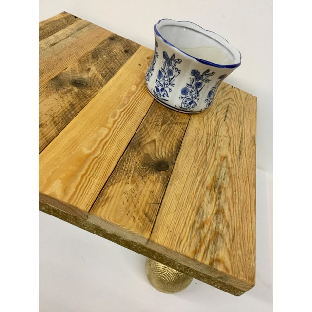 Rustic Low Reclaimed Hardwood Meditation Table For Sale - Image 12 of 13