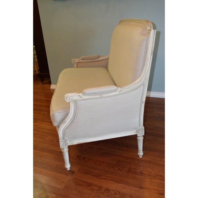 2010s Louis XVI Style Painted Sofa Upholstered in Belgium Linen Available for Custom Orderfor Custom Order For Sale - Image 5 of 10