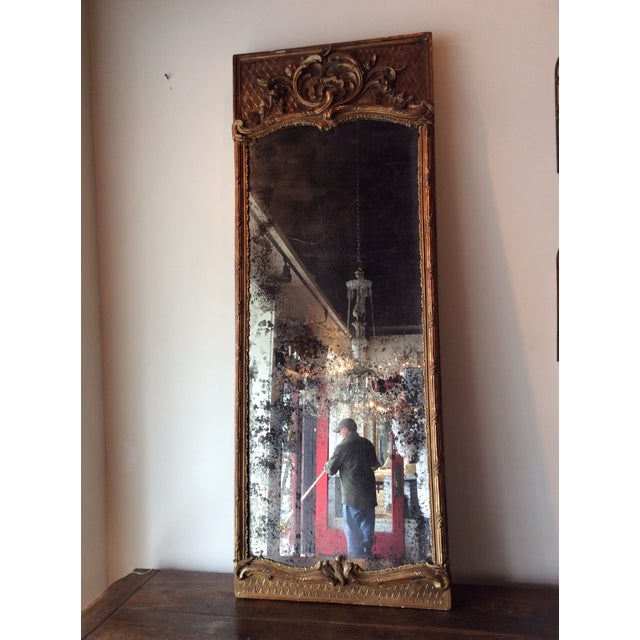 Antique French Giltwood Mirror - Image 6 of 8