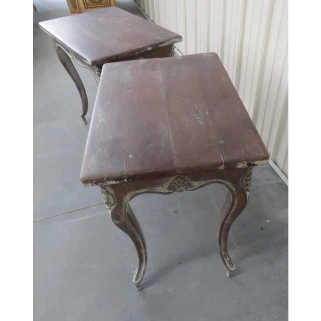 Early 20th Century Louis XV Style End Tables - a Pair For Sale - Image 4 of 9