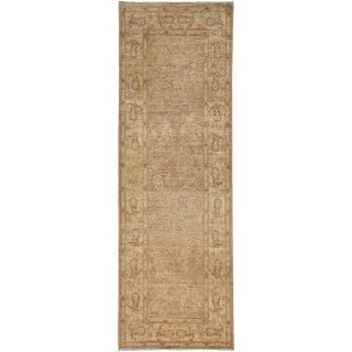"""Oushak, Hand Knotted Runner - 3' X 8'10"""" For Sale"""