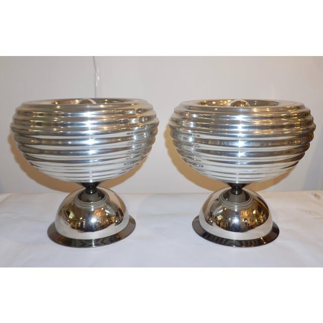 Flos 1960s Castiglioni Round Silver Tone Polished Aluminum Table Lamps - a Pair For Sale - Image 9 of 13