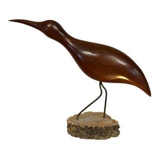 Vintage Walnut Bird Sculpture For Sale