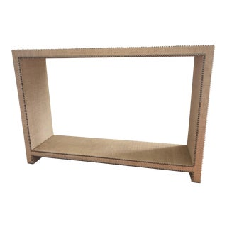 Raffia Parson's Style Console Table For Sale