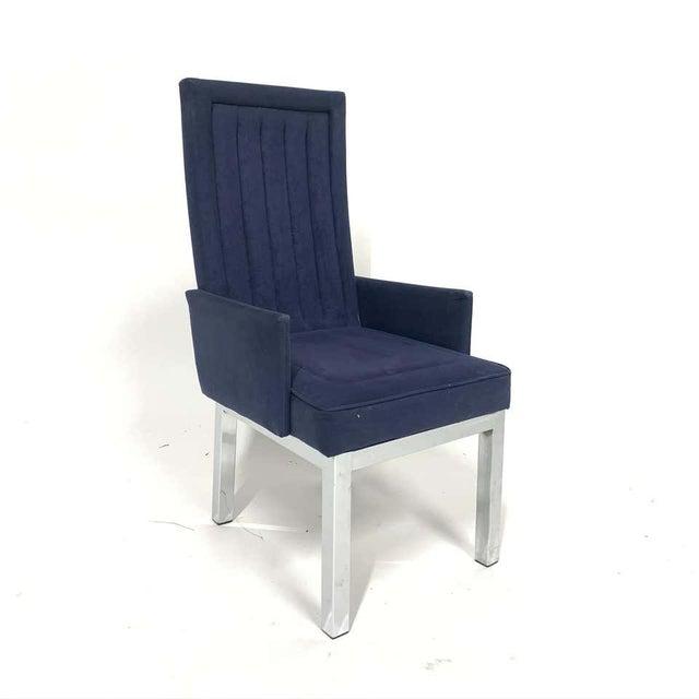 DIA - Design Institute America Set of 6 Milo Baughman for Design Institute of America Dia Chrome Parsons Chairs For Sale - Image 4 of 13
