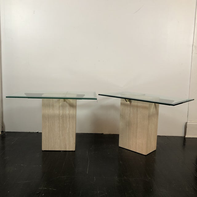 1970s Artedi Italian Marble Side Tables - a Pair For Sale - Image 13 of 13