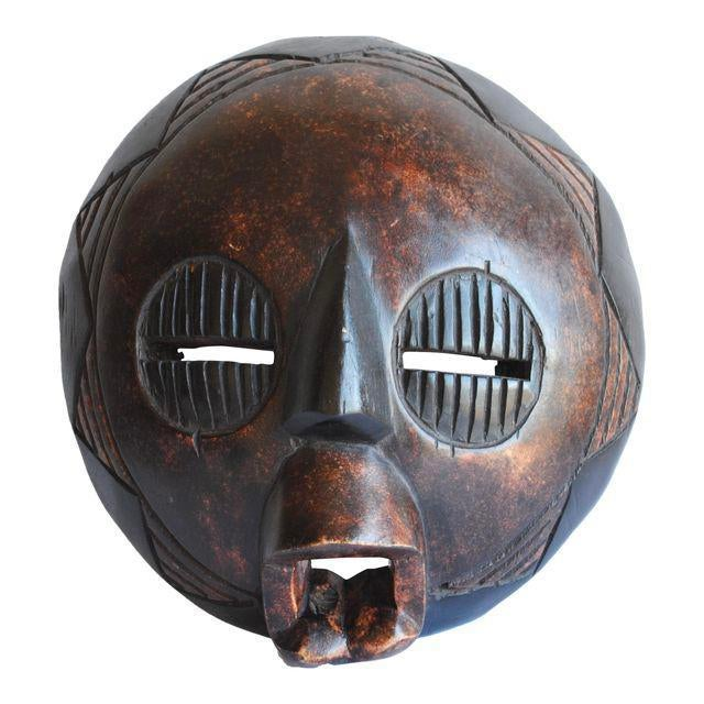 Mid 20th Century Handcarved African Mask For Sale - Image 5 of 5
