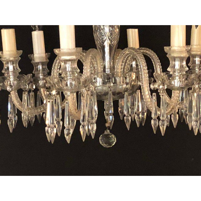 A Venetian Six Light Cut Crystal Chandelier Circa 1920 For Sale In New York - Image 6 of 13