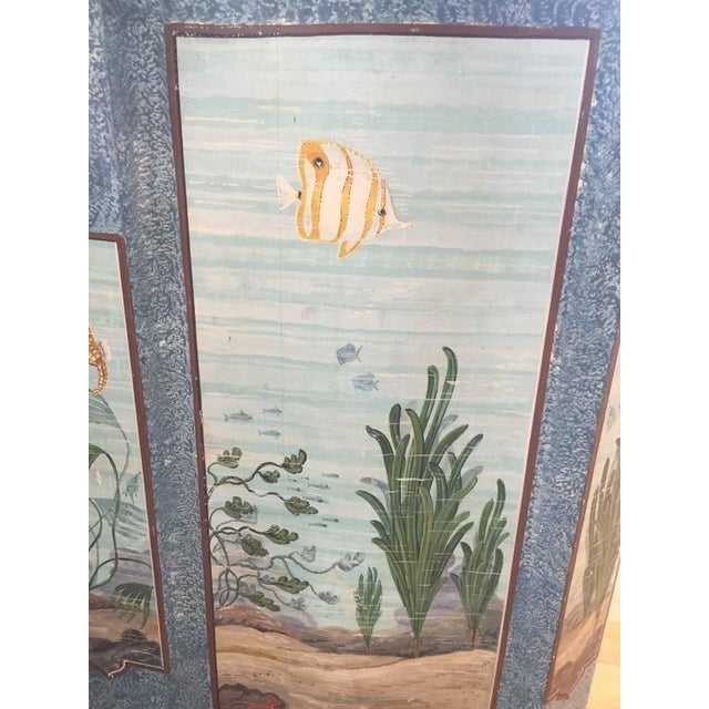Hand-Painted Aquatic Turtle-Footed Chest Dresser For Sale In New York - Image 6 of 8