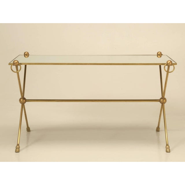 French Mid-Century Modern Coffee Table With Bronze Hoof Feet For Sale - Image 9 of 9