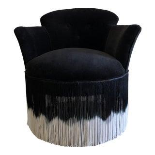 Hollywood Regency Boudoir Fringe Chair For Sale