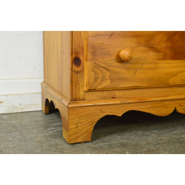 1990s Ethan Allen Farmhouse Pine Gentlemans Tall Chest For Sale - Image 5 of 13