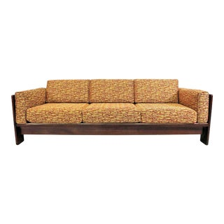 Ntage Mid-Century Modern Knoll Style Tobia Scarpa 'Bastiano' Rosewood Sofa For Sale