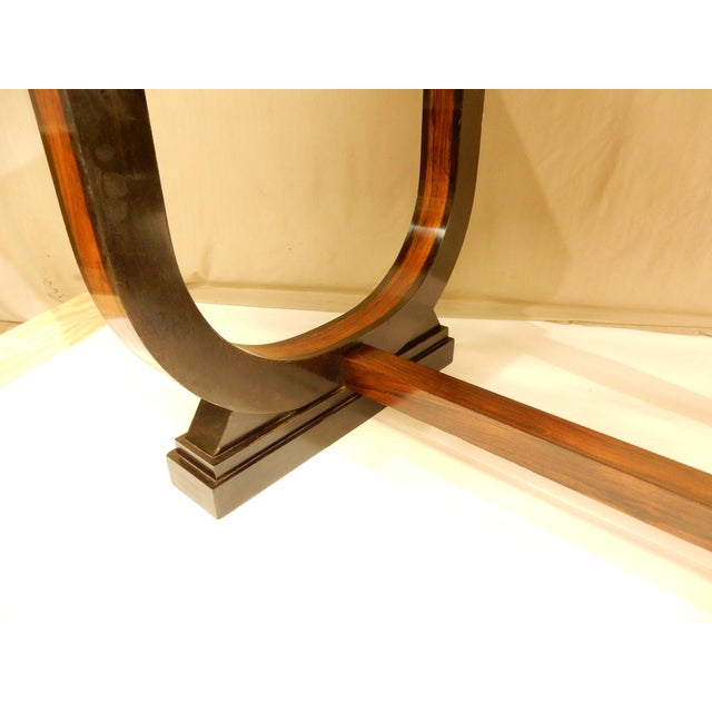 Art Deco Leather Top Table With Extensions For Sale - Image 9 of 10