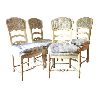 Late 18th Century Antique French Provincial Chairs - Set of 4 For Sale