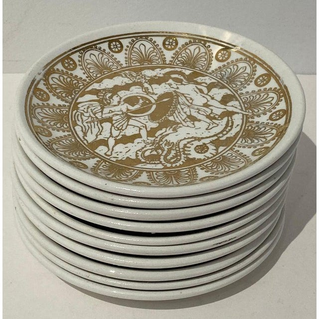 """Mid-Century Modern Fornasetti """"Mitologia"""" Coasters - Set of 10 (8 Designs) For Sale - Image 11 of 13"""