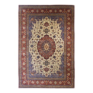 "Iranian Isfahan Rug 7'6"" x 11'4"" For Sale"