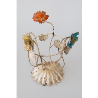 Italian Tole Flowers Plant Holder Preview
