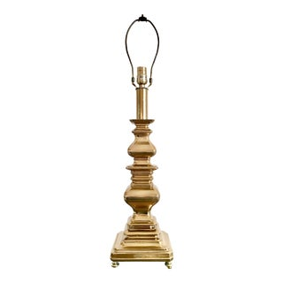 Vintage Architectural Rembrandt Brass Table Lamp