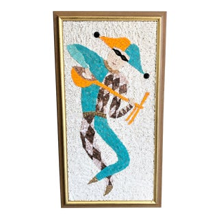 Mid Century Tile Mosaic Wall Art For Sale