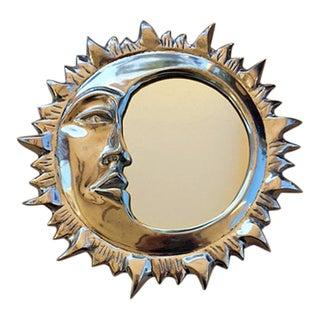 Vintage Celestial Sun & Crescent Moon Mirror