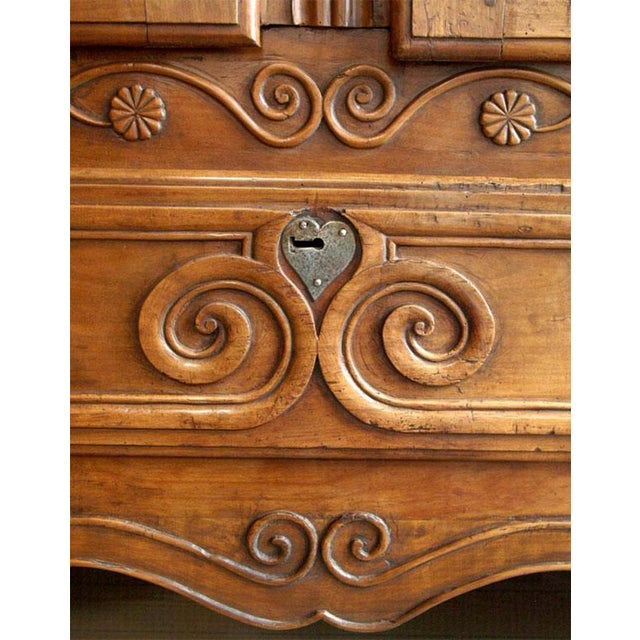 Louis XV Walnut Armoire For Sale - Image 9 of 10