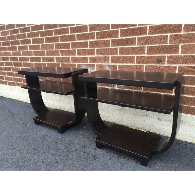 Art Deco Side Tables by Brown Saltman - Pair - Image 2 of 9