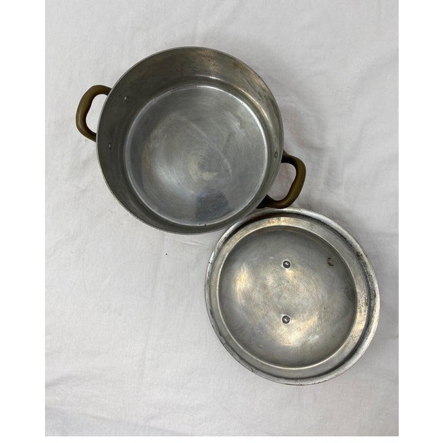 19th Century Small Copper Pot With Brass Handles and Lid For Sale - Image 5 of 13