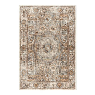 "Fairview Phillip Ivory Traditional Area Rug - 7'10"" x 10'3"" For Sale"