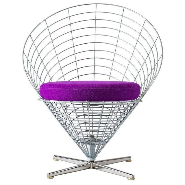 "Verner Panton ""Wire Cone"" Chair For Sale - Image 11 of 11"