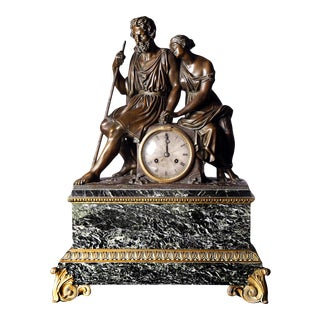 French Empire Mantel Clock, 19th Century For Sale