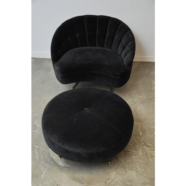 Sculptural Form Lounge Chair with Ottoman - Image 3 of 6