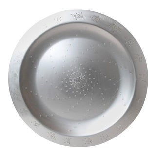 "Art Deco Lurelle Guild for Kensington Aluminum 18 Inch ""Constellation"" Tray For Sale"