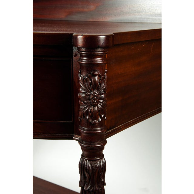 Late 19th Century Antique North American Mahogany Wood Freestanding Wall Console Table For Sale - Image 5 of 6