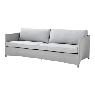 Cane-Line Diamond 3-Seater Sofa, Light Gray For Sale