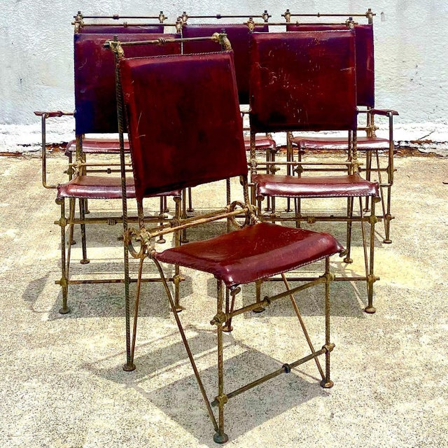 Vintage Brutalist Sculpted Rebar Dining Chairs in the Manner of Ilana Goor - Set of 6 For Sale - Image 13 of 13
