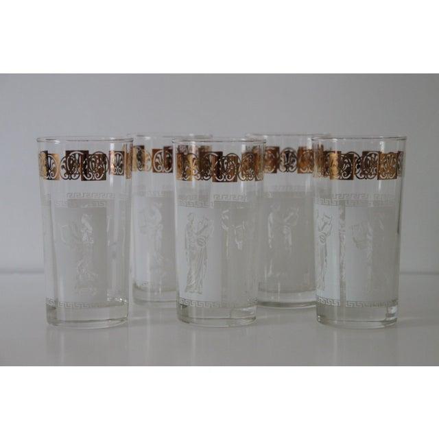 Mid-Century Modern Vintage Greek Glasses - Set of 5 For Sale - Image 3 of 5