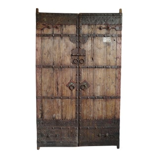 Mid 20th Century Old Mongolian Wood Doors For Sale