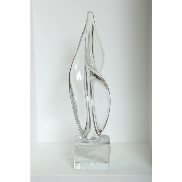 1970s Mid Century Modern Large Abstract Sculpture in Murano Glass For Sale - Image 5 of 10