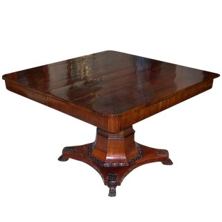 Danish Mahogany Dining Table For Sale