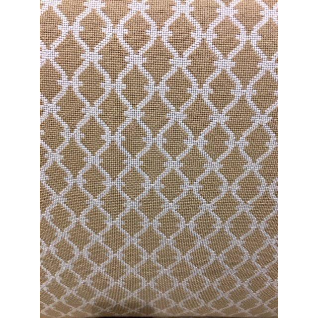 Scalamandre Scalalmandre Trellis Weave Sand Upholstered Slipper Chair For Sale - Image 4 of 5