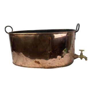 French Copper Wine Tub For Sale