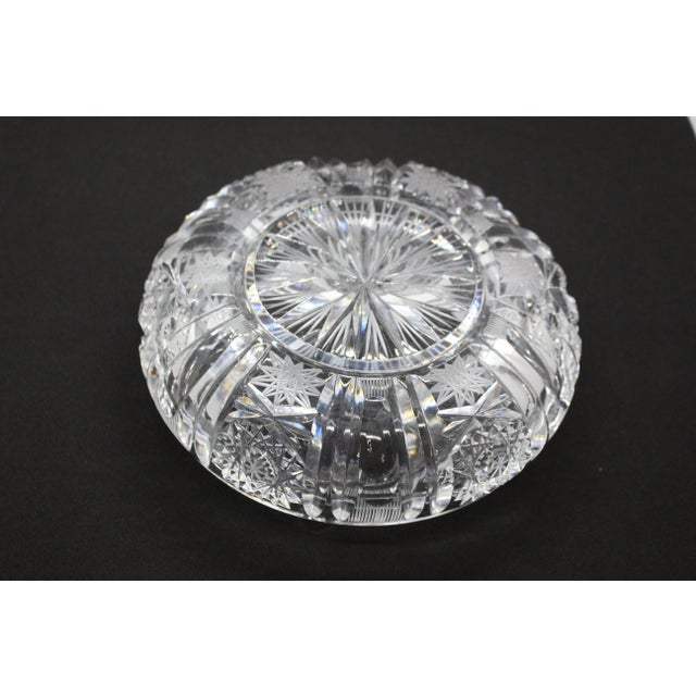 1960s Hollywood Regency Thick Cut Crystal Ashtray For Sale In Los Angeles - Image 6 of 8