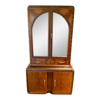1930s Art Moderne China Cabinet For Sale