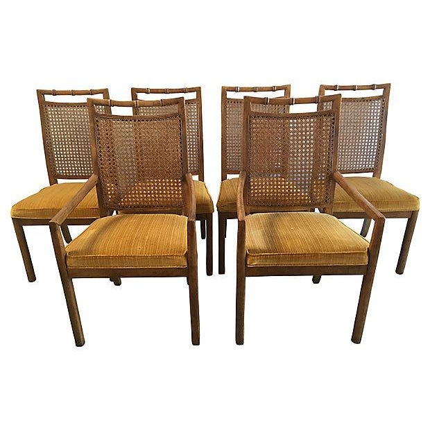 Heritage Faux Bamboo Dining Chairs - Set of 6 - Image 1 of 8