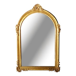 Mid 19th Century Louis XV Style Gold Mirror For Sale
