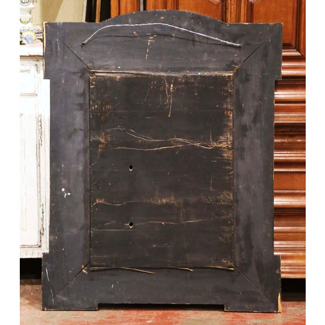 19th Century French Napoleon III Repousse Brass and Ebony Overlay Wall Mirror For Sale - Image 10 of 11