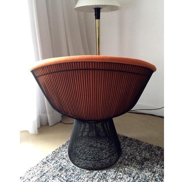 Mid-Century Modern 1960s Vintage Warren Platner Bronze Lounge Chair For Sale - Image 3 of 10